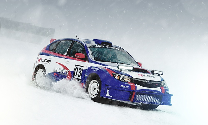 Rally ICAR Experience - Woodbine Racetrack: Two- or Six-Lap Intro or Stage 1 Winter Rally Driving Experience at Rally ICAR Experience (Up to 50% Off)