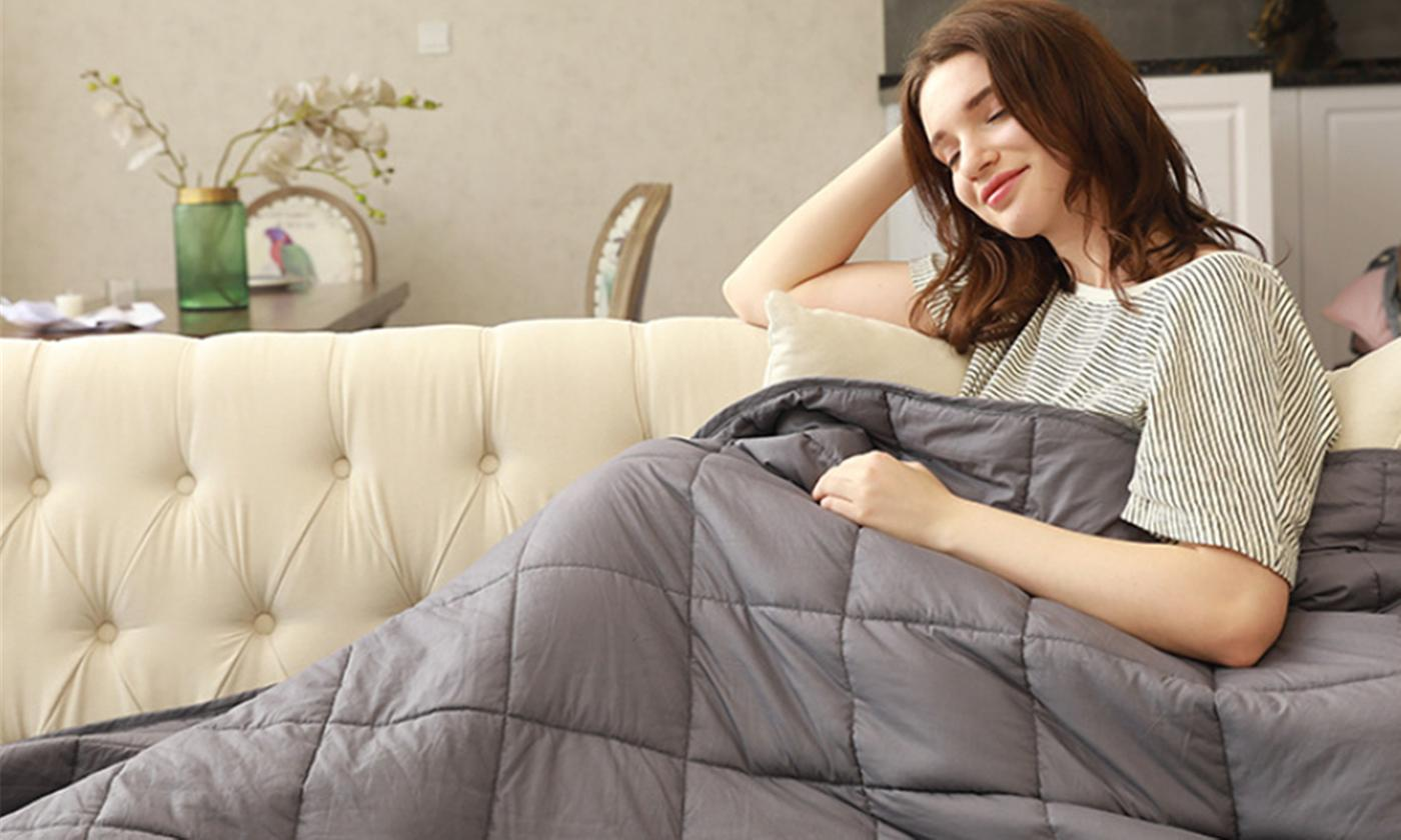 Cotton Weighted Blanket from £39.95 (50% OFF)