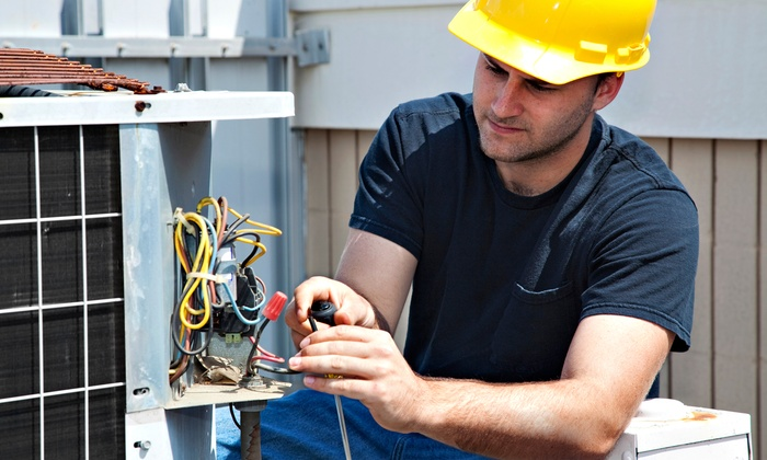 V-Force Repairs - Sunset Arcre, Garden Valley, Morningside: Maintenance on Central Heating and Cooling Systems or Six Household Appliances from V-Force Repairs (58% Off)