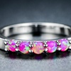 5-Stone Pink Lab-Created Opal Ring by Sevil