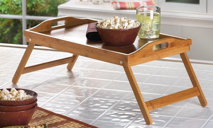 Bamboo Breakfast Folding Lap Table