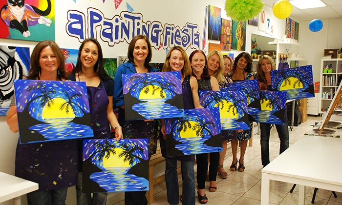 painting class with chips and salsa at a painting fiesta up to 38