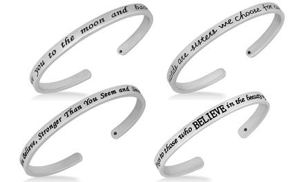 Engraved Inspirational Cuff Bracelets