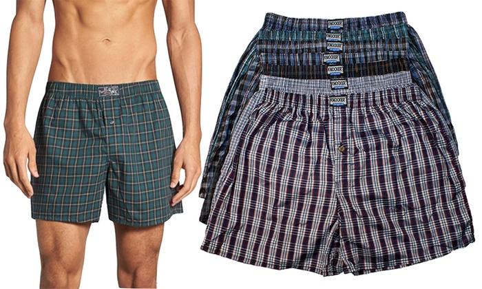 Men's Classic Plaid Boxer Shorts (6-Pack)