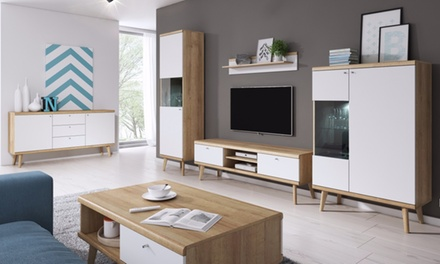 ensemble meuble tv mural selsey groupon shopping. Black Bedroom Furniture Sets. Home Design Ideas