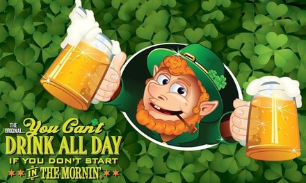 Bash Events St. Patrick's Morning Party on March 17 (Up to 62% Off). Eight Options Available.