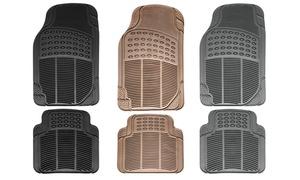 Heavy-Duty Car-Floor Rubber Mats Set (4-Piece)