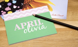 Up to 45% Off Personalized Notecards from April Olivia at April Olivia, plus 9.0% Cash Back from Ebates.