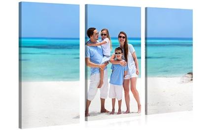 3 paneles de fotolienzos a elegir tamaño desde 36,99 € con Photo Gift
