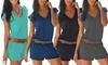 Groupon Goods Global GmbH: 1 o 2 jumpsuit da donna con scollo a V disponibili in 4 colori e varie taglie