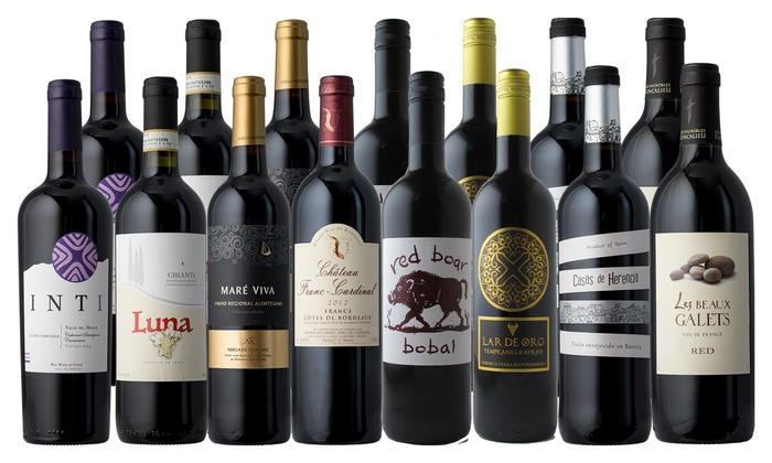 up to 77 off on 15 winter red wine bottles groupon goods