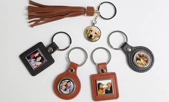 Up to 76% Off Personalized Photo Leatherette Keychains