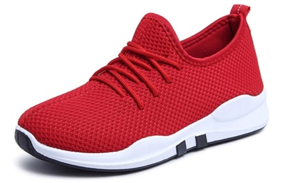 One Pair of Women's Breathable Mesh Sneakers in Choice of Colour and Size