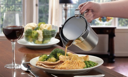 Cooks Professional Insulated Stainless Steel Gravy Jug