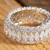 7.00 CTTW Round and Marquise Cut Cubic Zirconia Eternity Band
