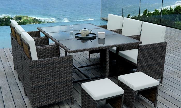 ensemble de salon de jardin tunga groupon shopping. Black Bedroom Furniture Sets. Home Design Ideas
