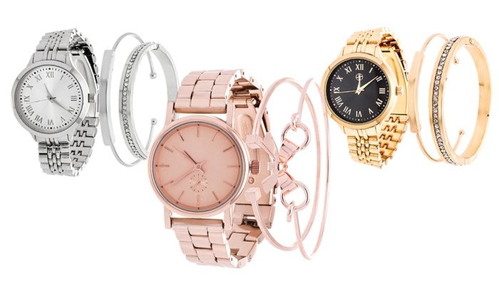 Arm Candy Women's Watch and Bracelet Sets (3-Piece): Arm Candy Women's Watch and Bracelet Sets (3-Piece)