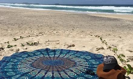 1 o 2 toallas redondas de suave tacto para la playa o piscina