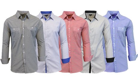 Men's Slim-Fit Button-Down Shirts