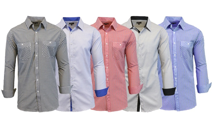 Men's Button-Down Shirts - Deals & Coupons | Groupon
