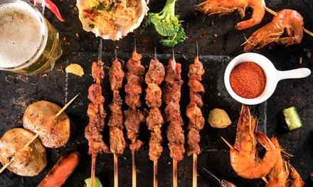 $10 to Spend on Food for One Person or $60 to Spend on Food for Up to Six People at Skewers Go