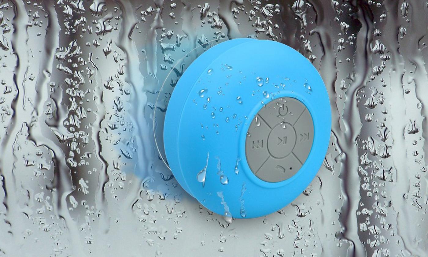 One or Two Waterproof Bluetooth Shower Speakers