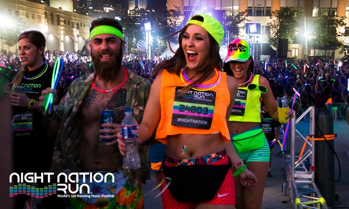 Night Nation Run - The Domain: Nighttime 5K Music Festival from Night Nation Run: Entry for $54.99, 4 Nov, The Domain (Don't Pay $90) - THIS WEEKEND