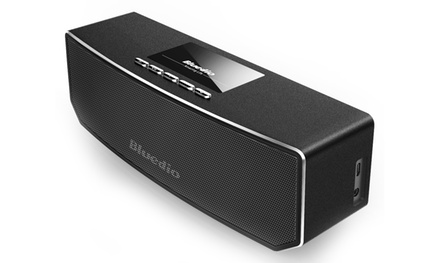 $49 for a Bluedio CS4 Bluetooth 4.1 Portable Wireless Stereo Speaker with a Microphone Function