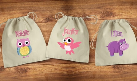 Up to Five Personalised Drawstring or Tote Bags from Dinkleboo (Up to 80% Off)