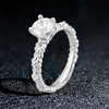1 CTTW Diamond Engagement Ring in 14K White Gold by DiamondMuse