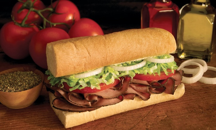 Custom Eatery - Custom Eatery: 4 Groupons Each Good for 6-Inch Sub or 2 Foot-Long Subs w/ 2 Cookies & 2 Drinks @ Custom Eatery (Up to 40% Off)