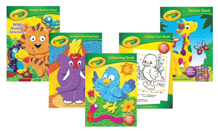 Set of Five Crayola Colouring and Sticker Books
