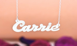 Personalized Name Necklace in Sterling Silver Plated at Personalized Name Necklace, plus 6.0% Cash Back from Ebates.