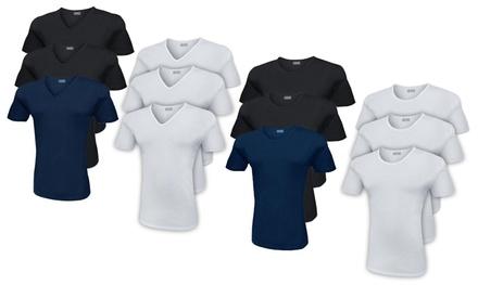 Pack de 3, 6, 9 camisetas lisas Liabel para hombre