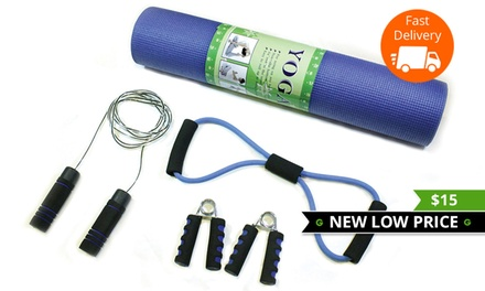 $15 for a Yoga Mat and Exercise Accessory Set