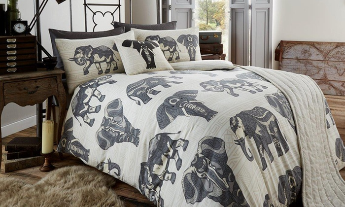 Tribal Elephant Bed in a Bag Groupon Goods