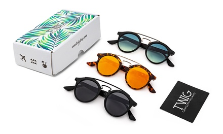 Set 3 occhiali da sole unisex Quental brand Twig Concept Milano disponibile in 4 modelli
