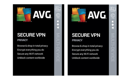 AVG Secure VPN 2020 para 5 dispositivos durante 1 o 2 años