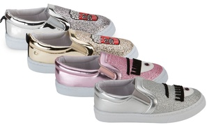 Olivia Miller Kids' Graphic Slip-On Sneakers