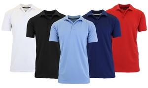 d51e6b42 Galaxy by Harvic Men's Tagless Moisture-Wicking Polo Shirt ...
