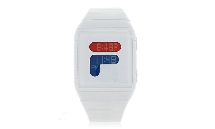 White Fila Watch   Groupon Goods