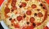 Menu pizza alla carta con bibita