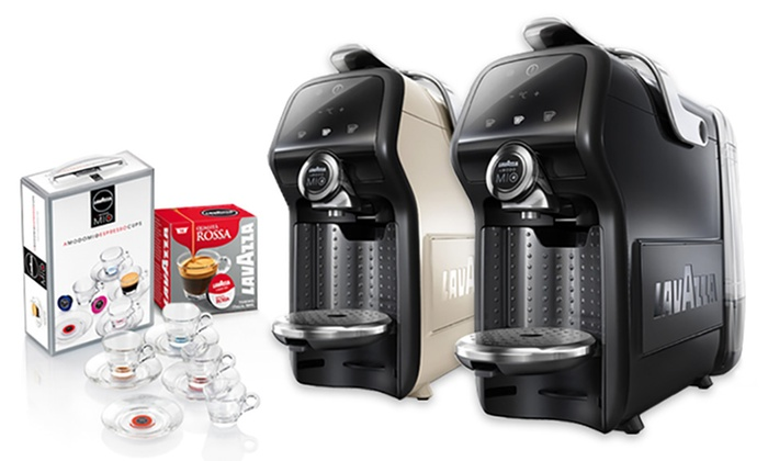 Lavazza Lm6000 Espresso Coffee Machine With 38 Capsules And 4 Glasses For 7499 With Free Delivery 50 Off