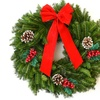 Pre-Order: 22'' Fresh Fraser Fir and Boxwood Decorated Wreath