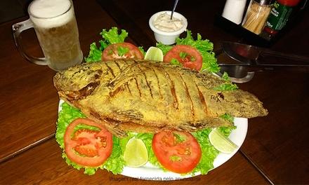 Meu Bar – Taguatinga: tilápia frita + vinagrete e farofa + 4 Chopps Brahma para 2 pessoas