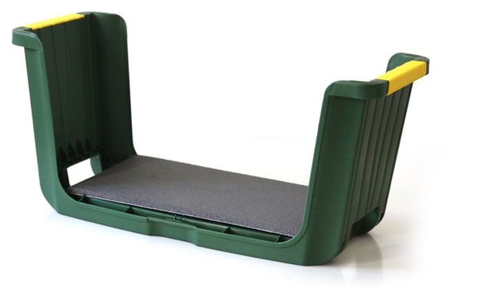 Garden seat kneeler with storage groupon goods for Gardening 4 less groupon