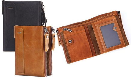 One or Two Mens RFID Genuine Leather Wallets