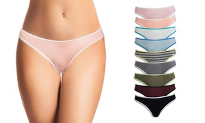 b05b8745146a5 Women s Cotton-Blend Thong Panties in Assorted Colors (10-Pack)