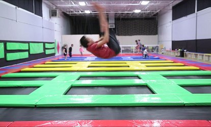 image for Jump Time at Airborne <strong>Trampoline</strong> (Up to 52% Off)