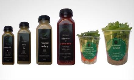 Detox Juice   Kit Dia Detox: 1 kit Salatox (2 saladas no pote + 4 sucos detox)